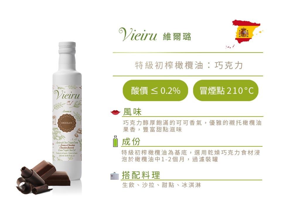【維爾璐 Vieiru】西班牙特級初榨巧克力風味橄欖油 風味描述
